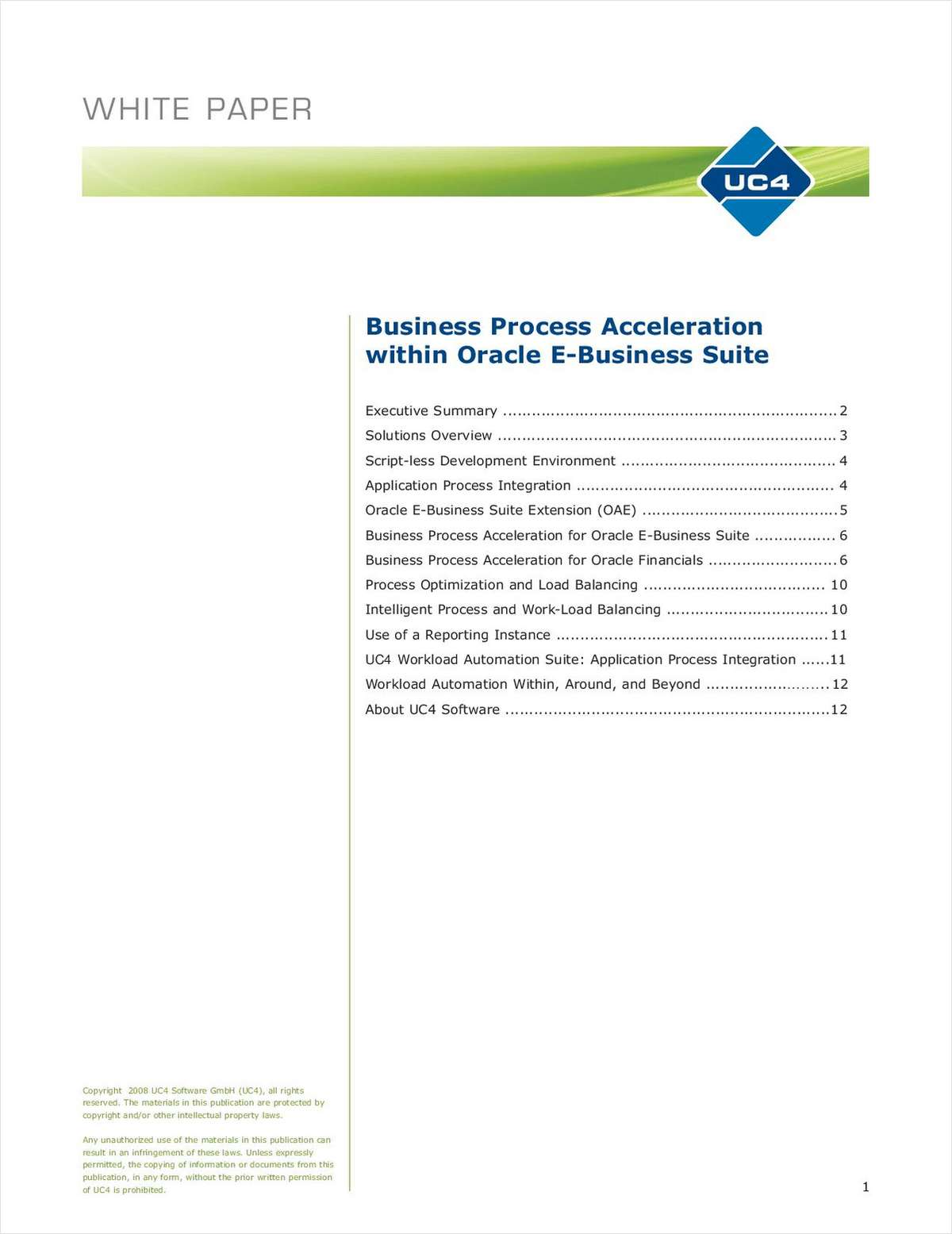 Oracle E-Business Suite: Business Process Acceleration