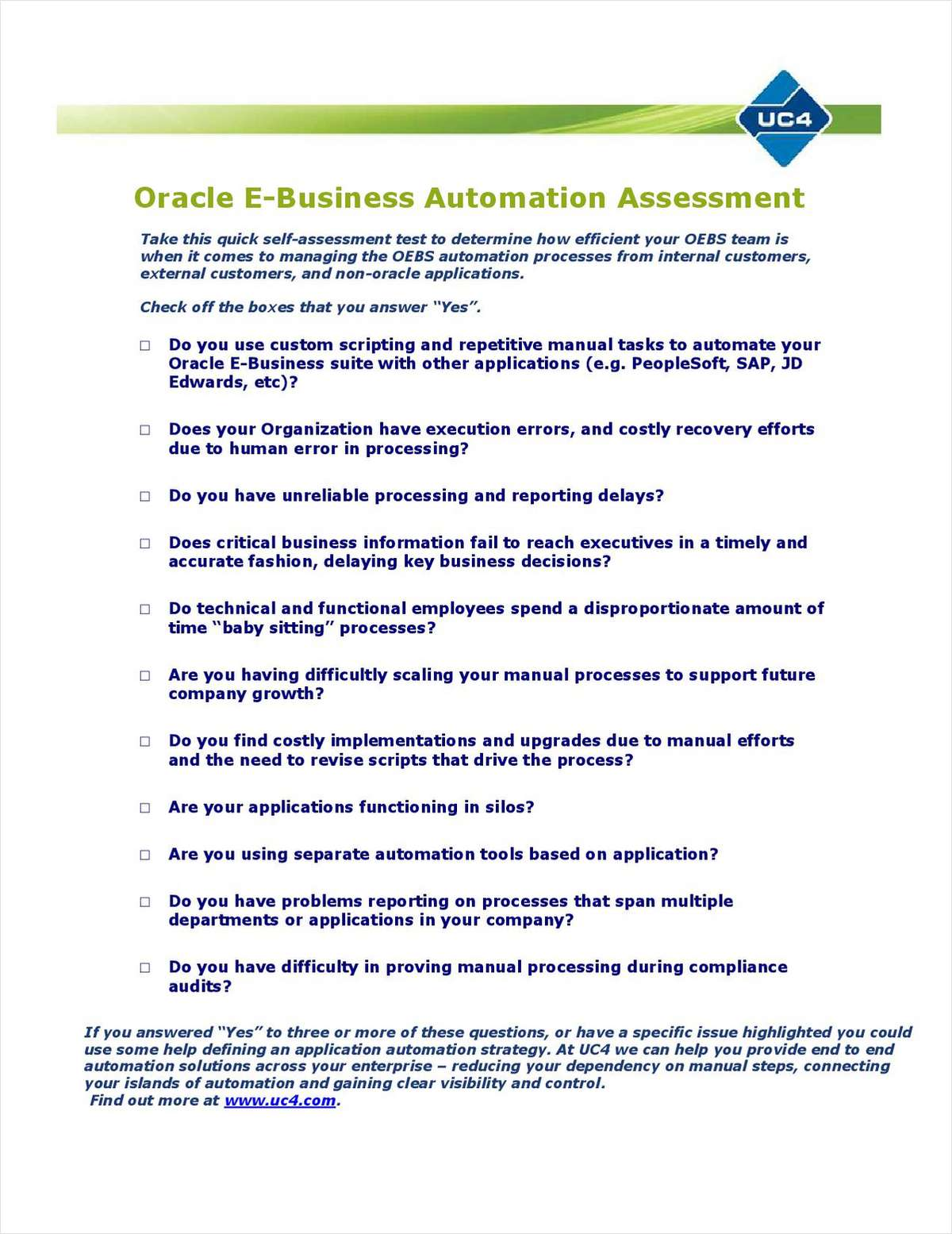 Oracle E-Business Suite Automation Kit