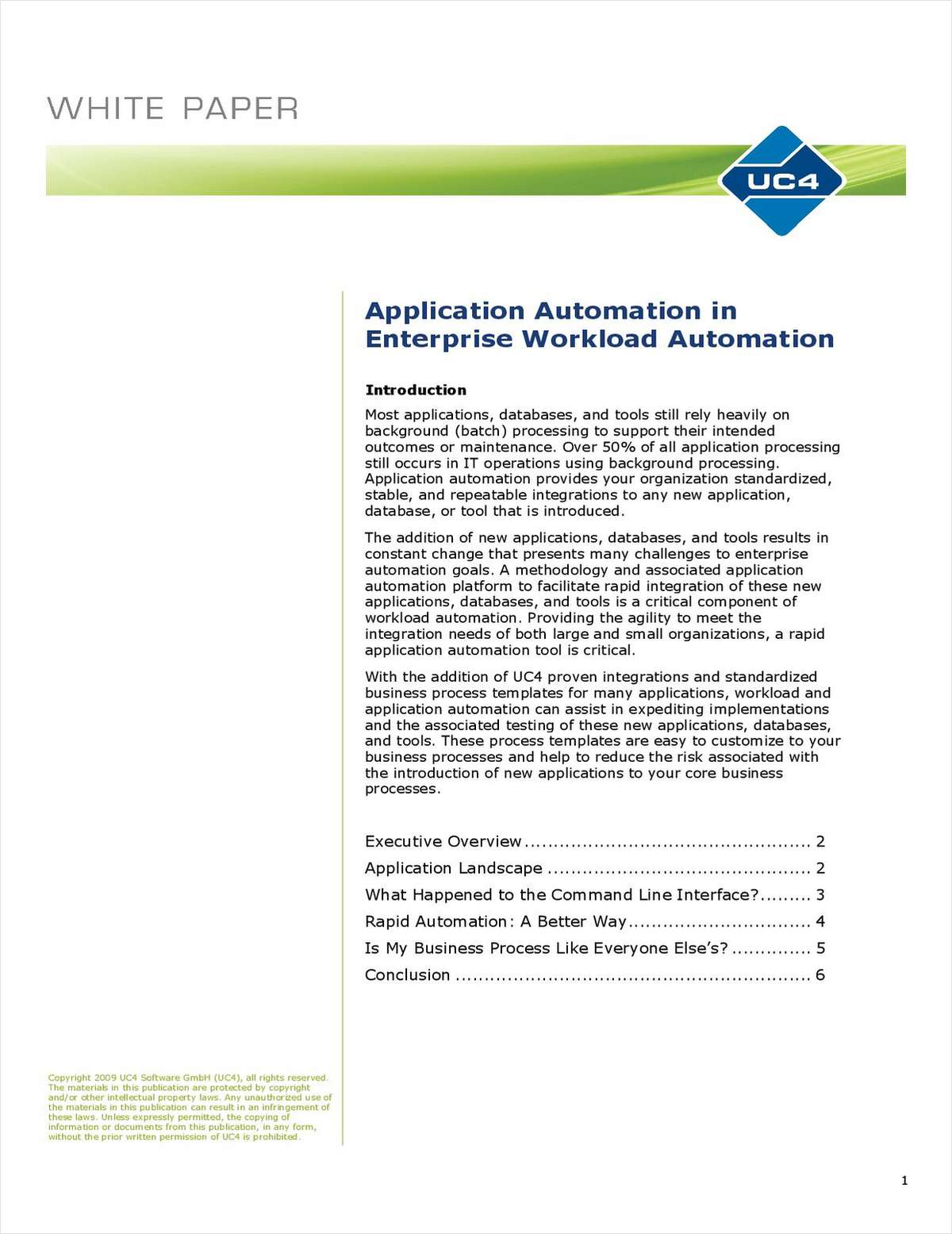 Application Automation in Enterprise Workload Automation