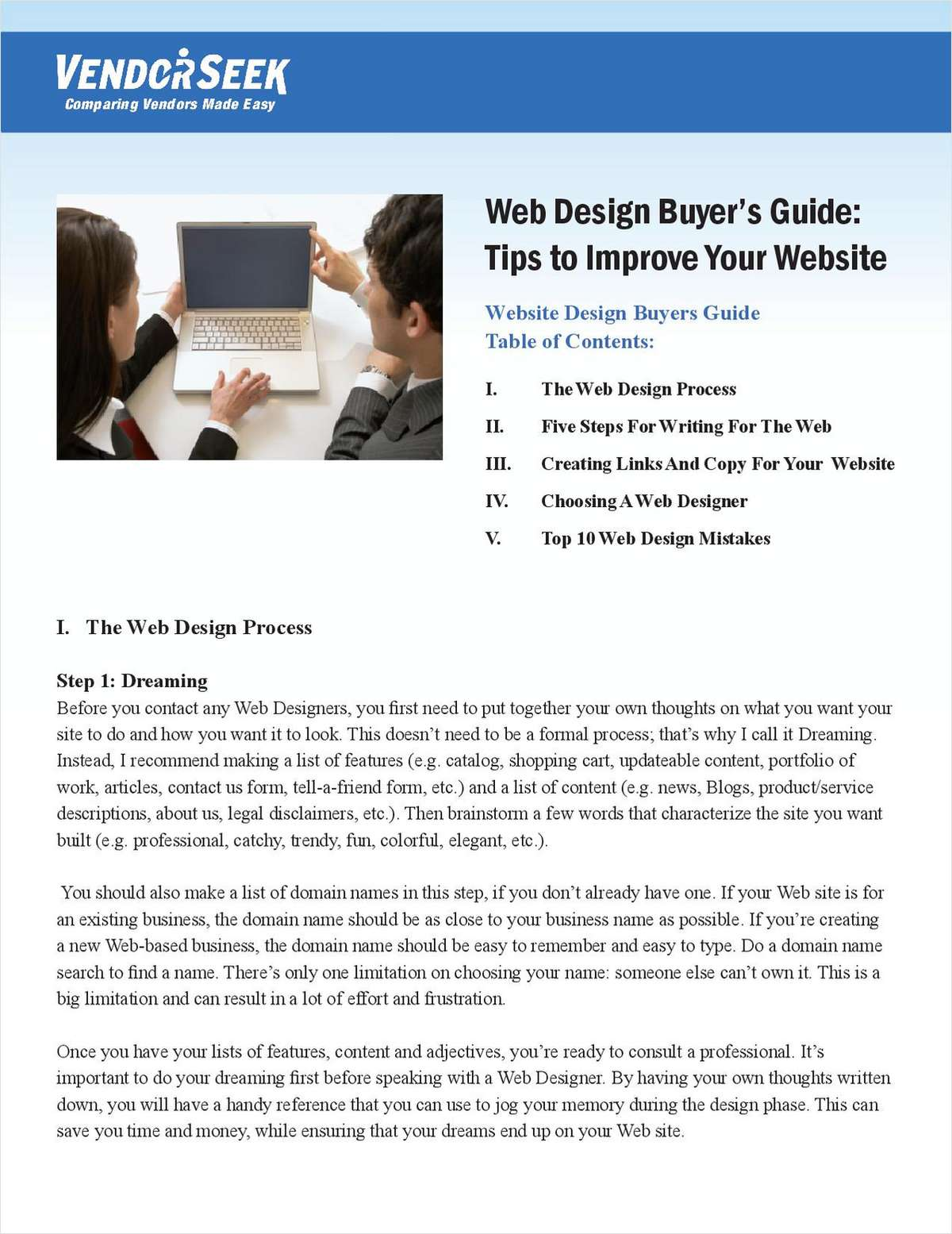 Tips to Improve Your Web Site Design