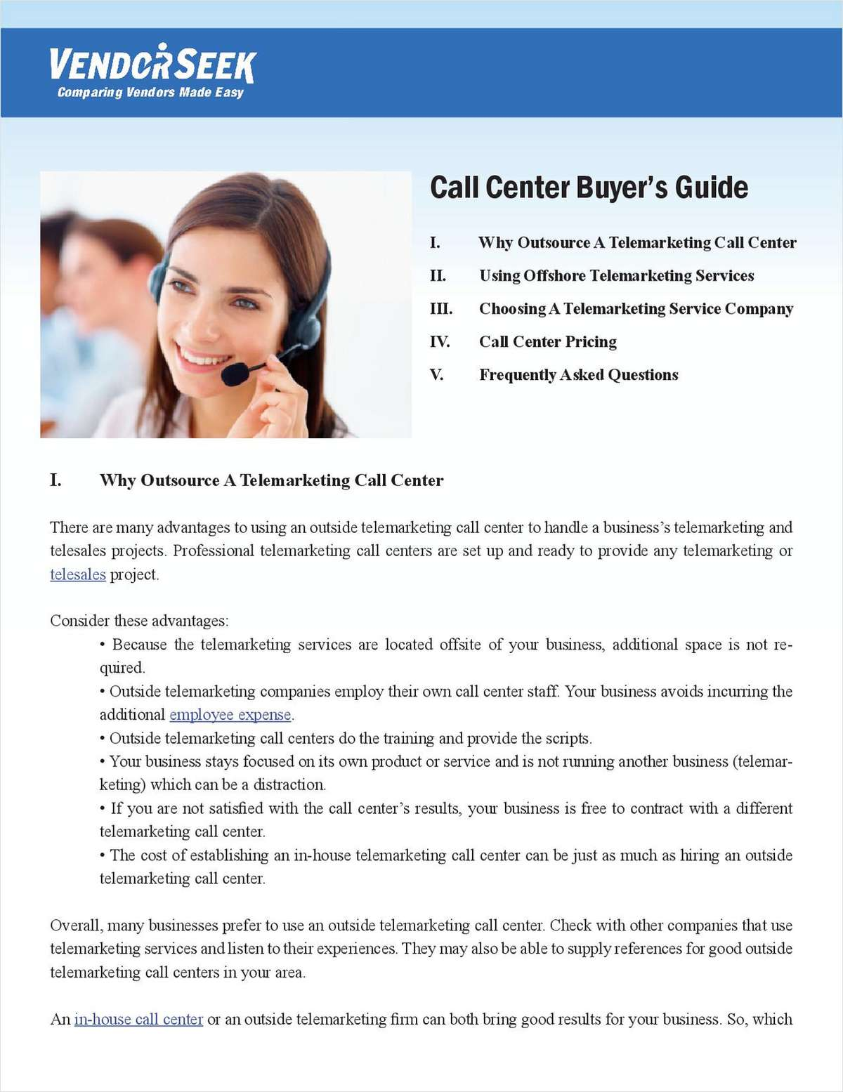 Learn the Many Benefits of Outsourcing a Telemarketing Call Center