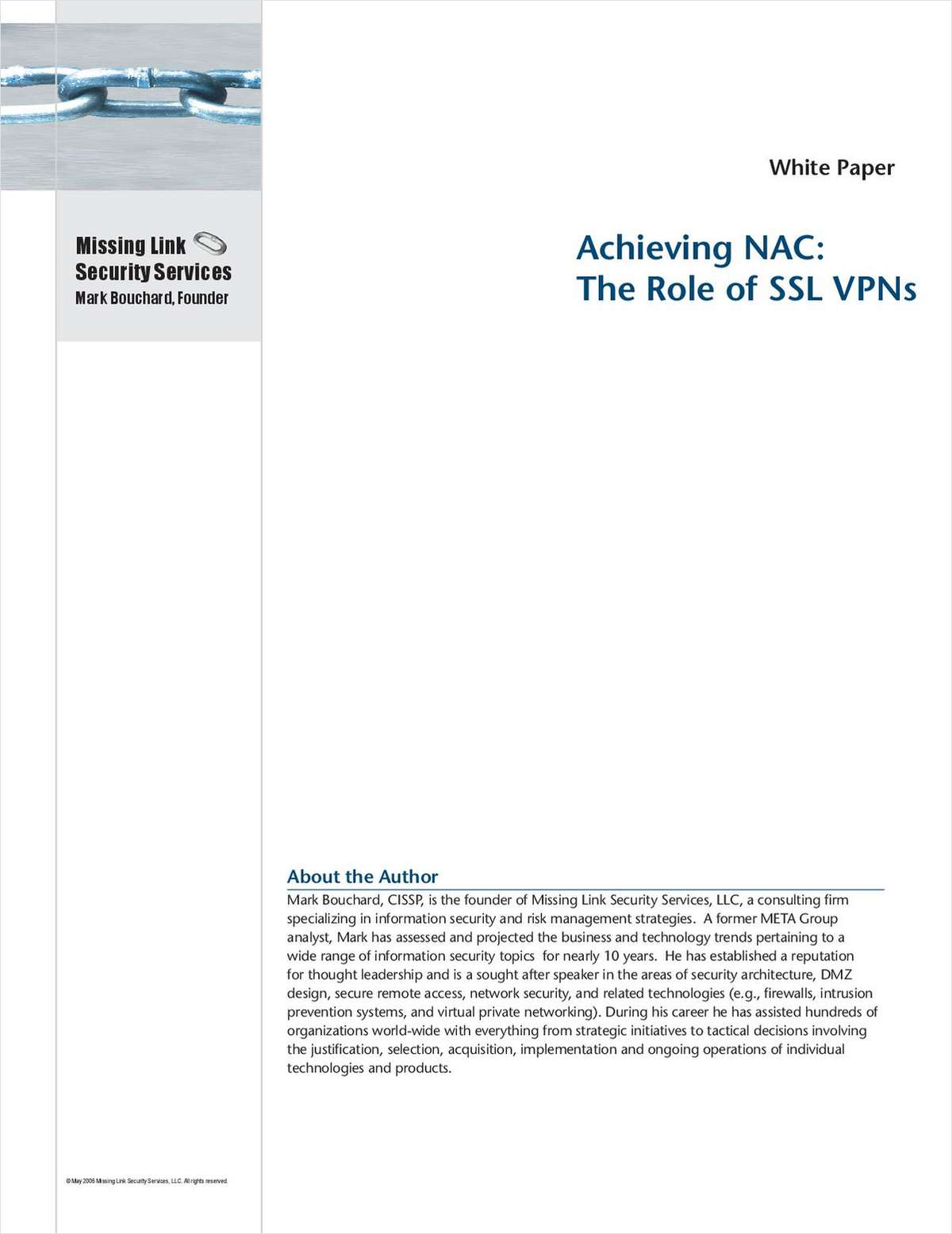Achieving NAC Now and in the Future: The Role of SSL VPNs