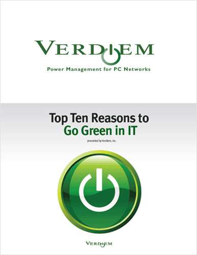 Top 10 Reasons to Go Green in IT