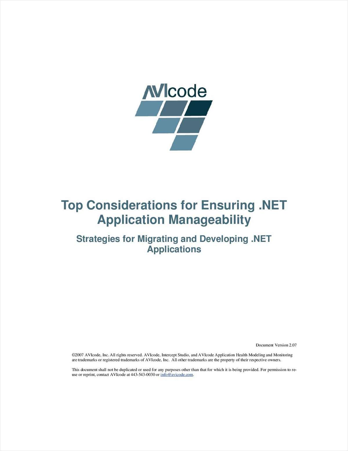 Top Considerations for Ensuring .NET Application Manageability
