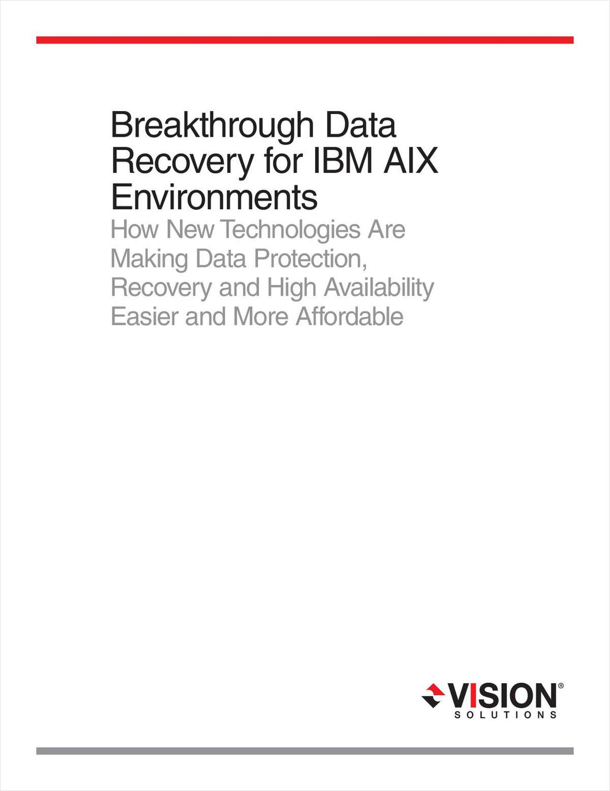 Data Replication and CDP for IBM AIX Environments