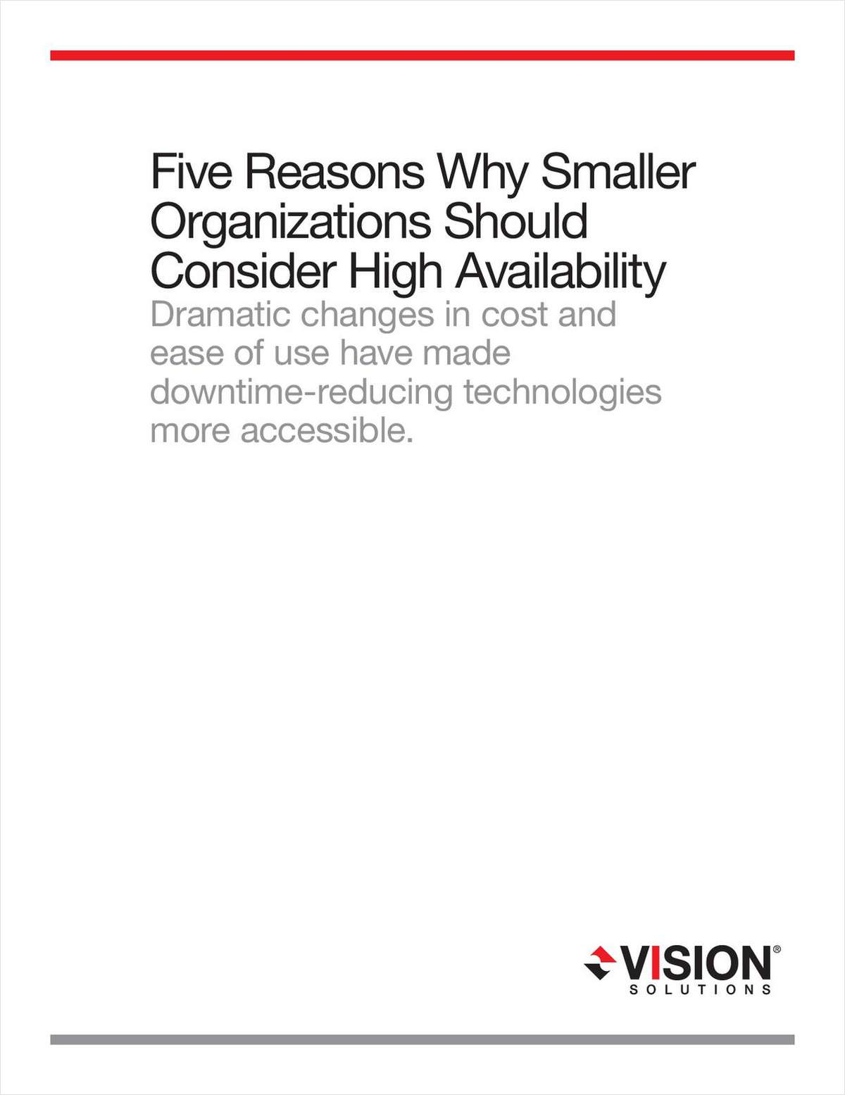 Five Reasons Why Smaller Organizations Should Consider System i (AS/400) High Availability