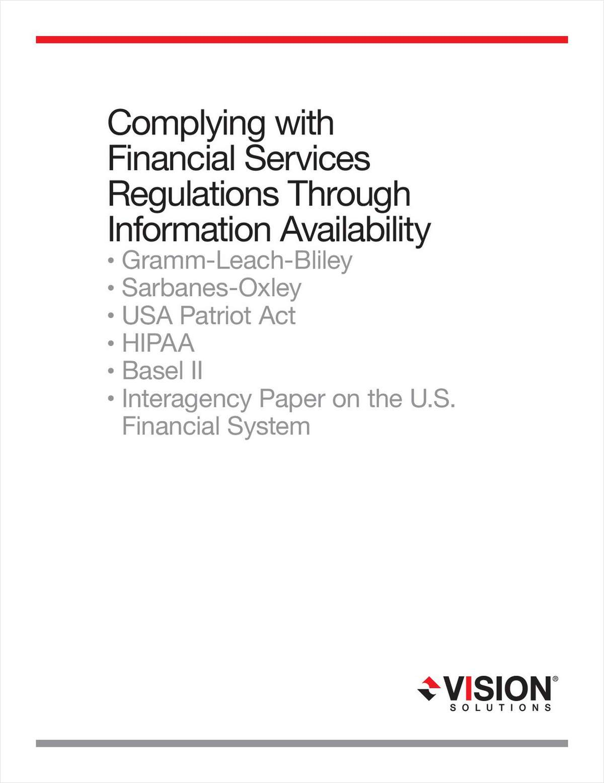 Complying with Financial Services Regulations Through Information Availability