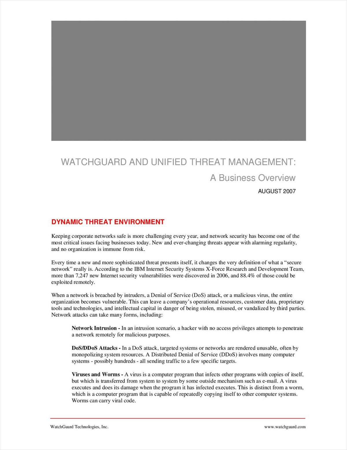 Unified Threat Management: How to Stop Spyware, Spam, Viruses, and Other Malicious Attacks