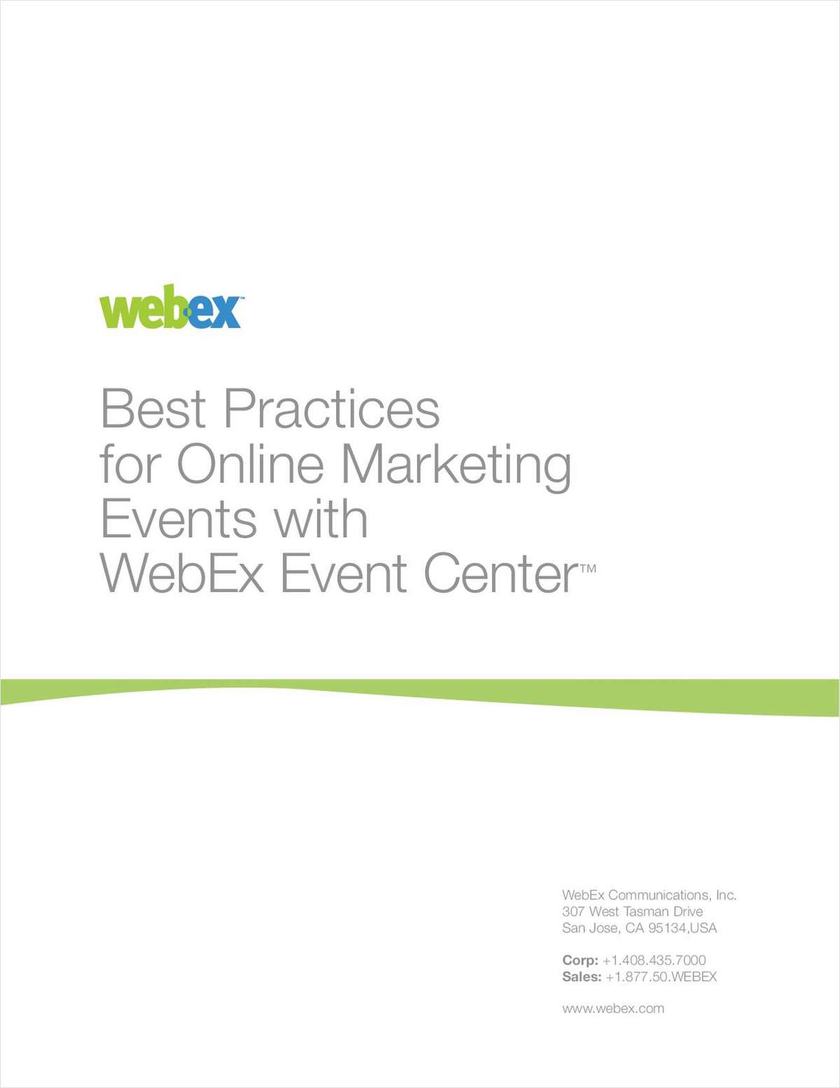 Best Practices for Online Marketing Events with WebEx Events Center