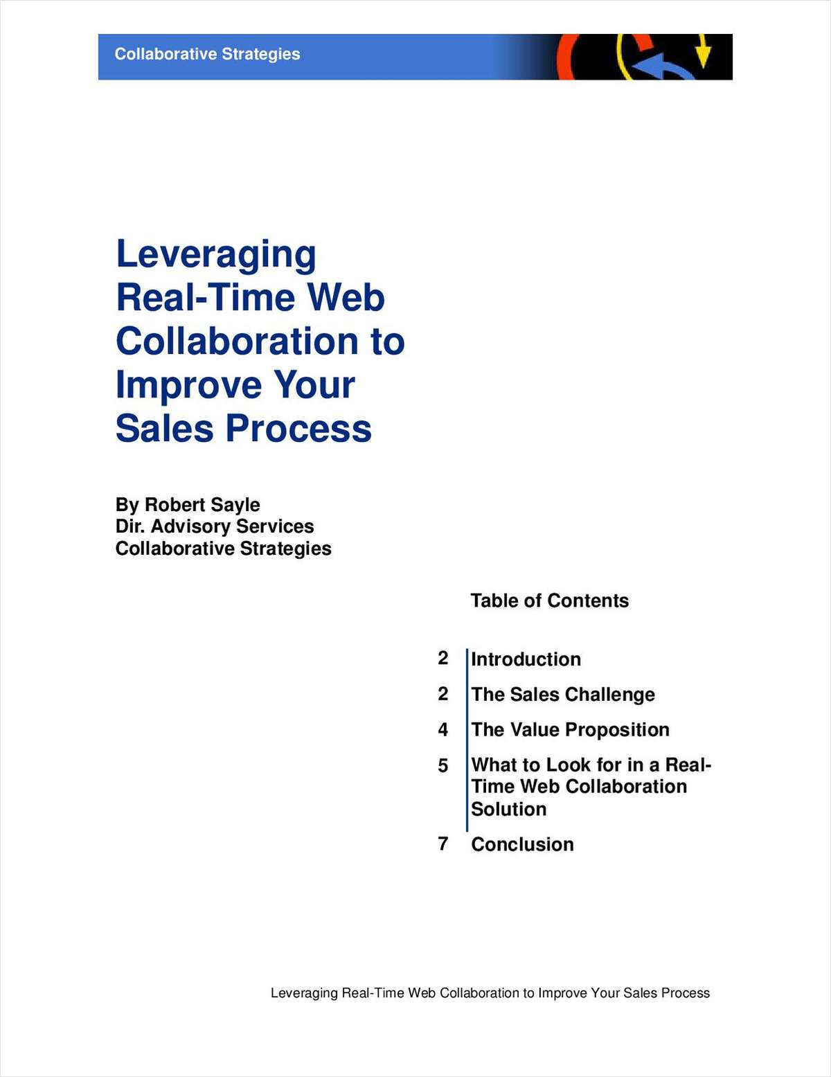 Leveraging Real-Time Web Collaboration to Improve Your Sales Process