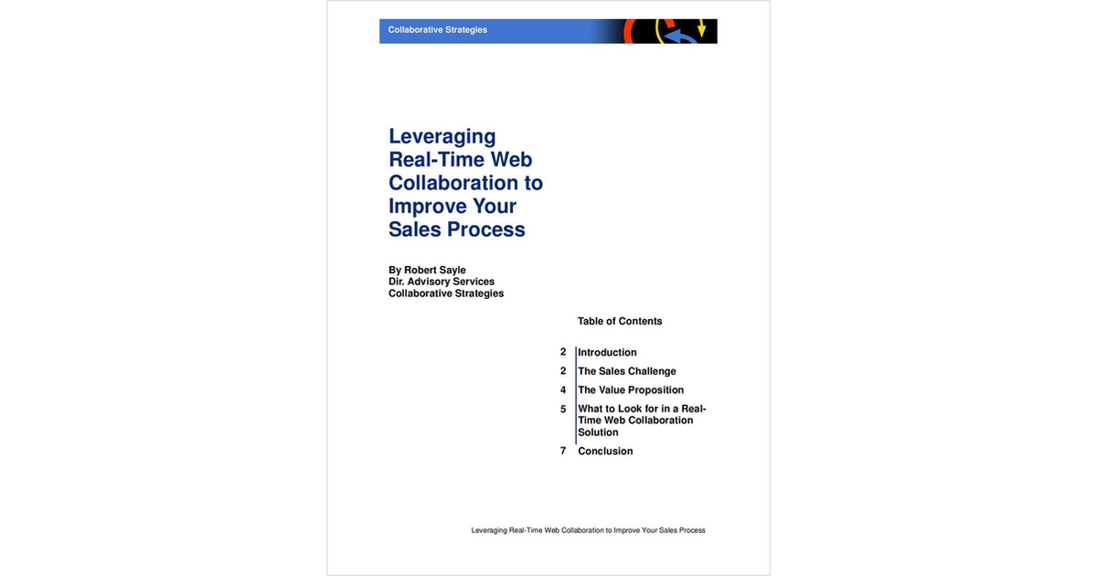 Leveraging Real Time Web Collaboration To Improve Your