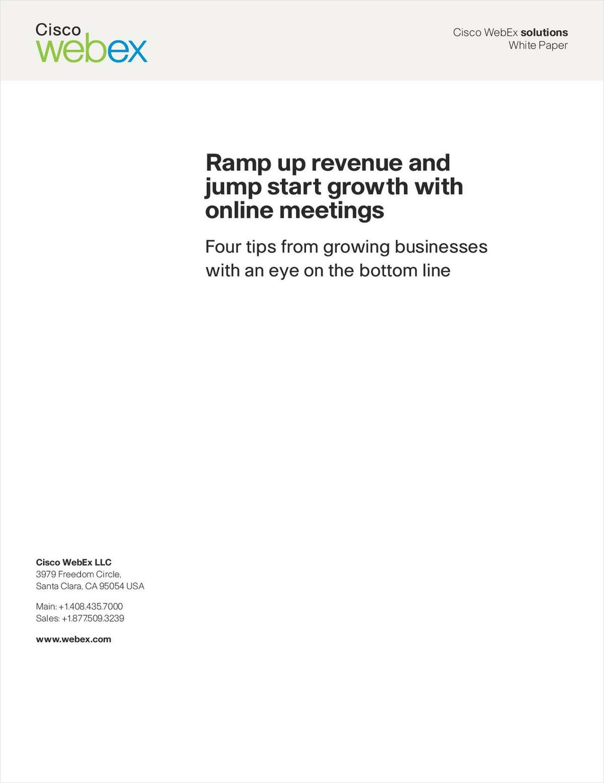 Ramp Up Revenue and Jump Start Growth with Online Meetings