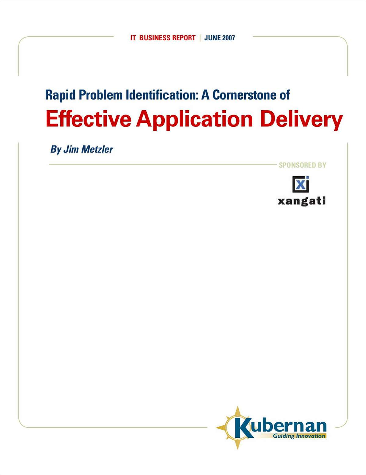 Rapid Problem Identification: A Cornerstone of Effective Application Delivery