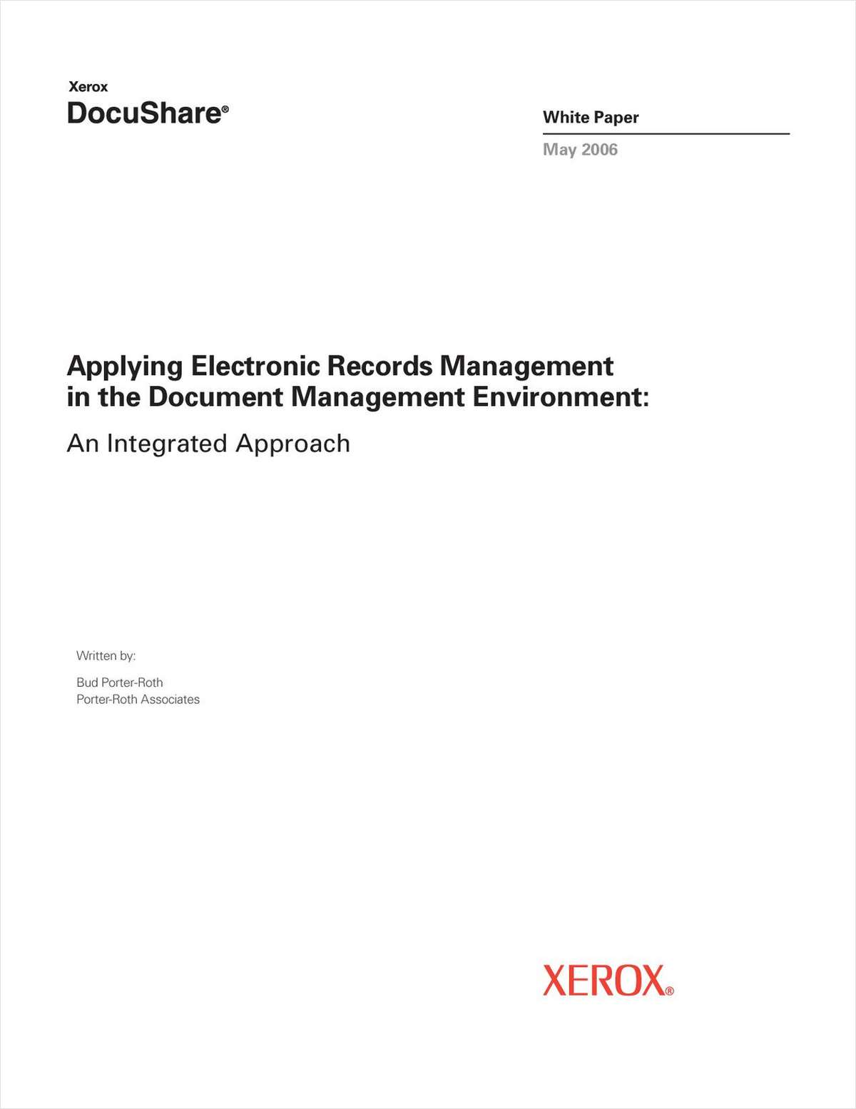 Applying Electronic Records Management in the Document Management Environment: An Integrated Approach