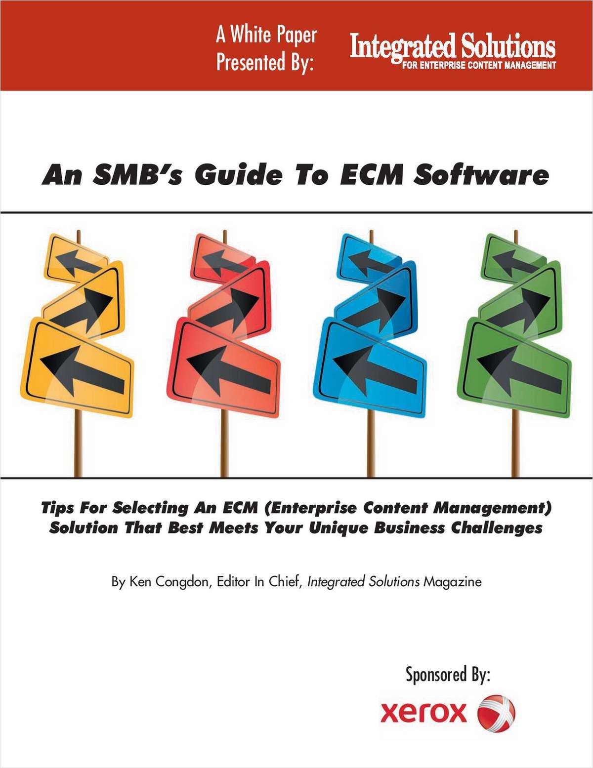 An SMB's Guide to ECM Software