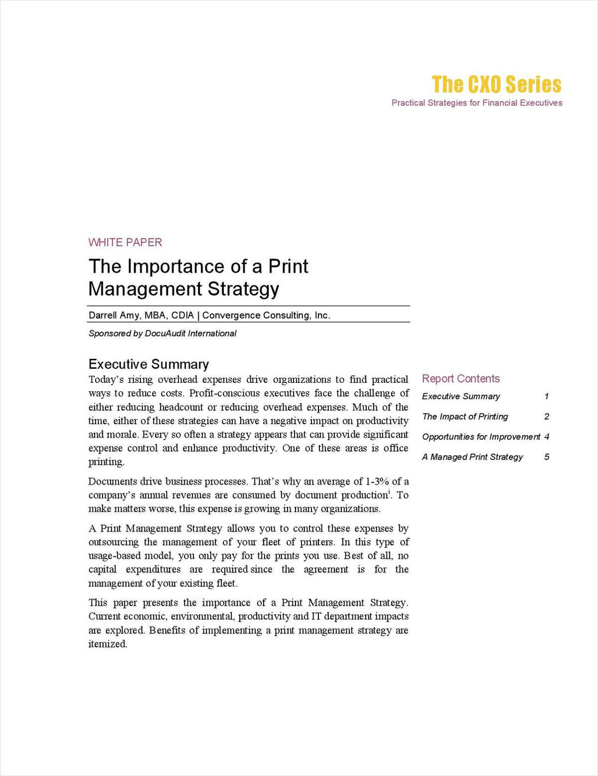 The Importance of a Print Management Strategy – And Why it Matters