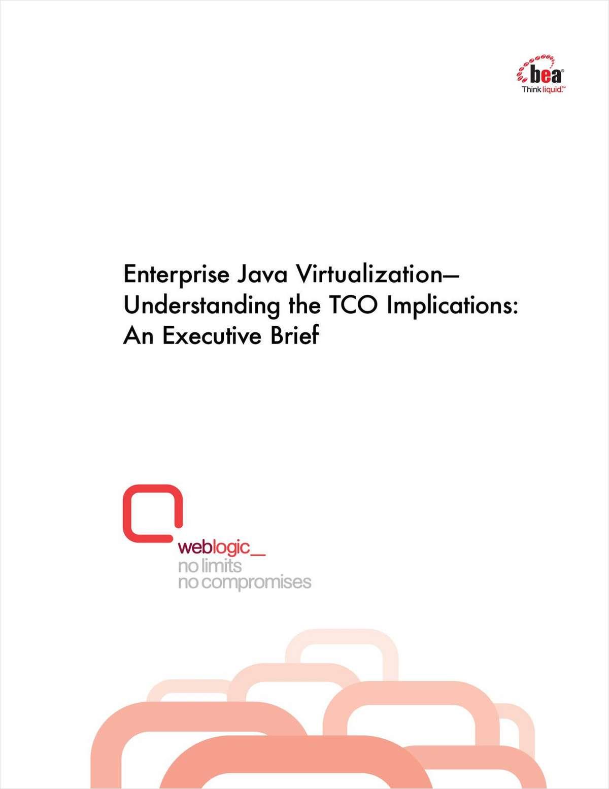 Enterprise Java Virtualization—Understanding the TCO Implications