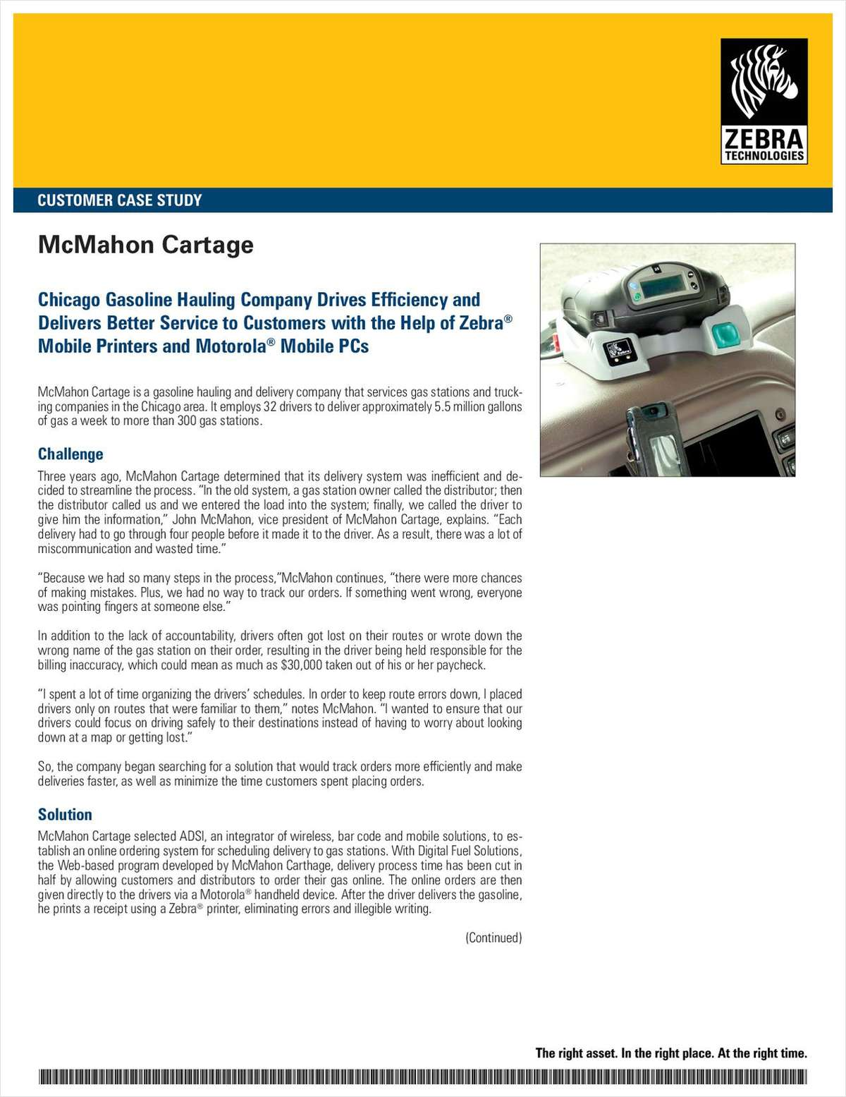 Gas Hauler Drives Efficiency with Mobile Printers & PCs