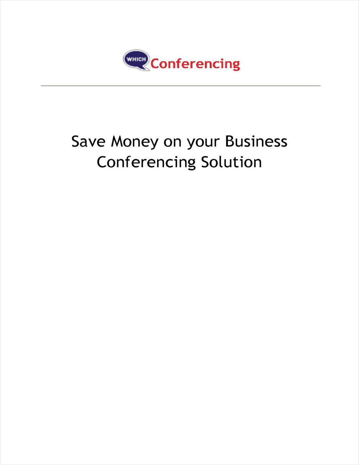 Comparison Guide for Web/Audio Conferencing Systems for Your Business