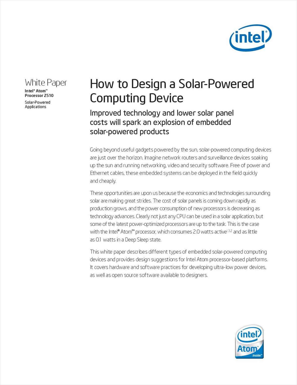 How to Design a Solar-Powered Computing Device