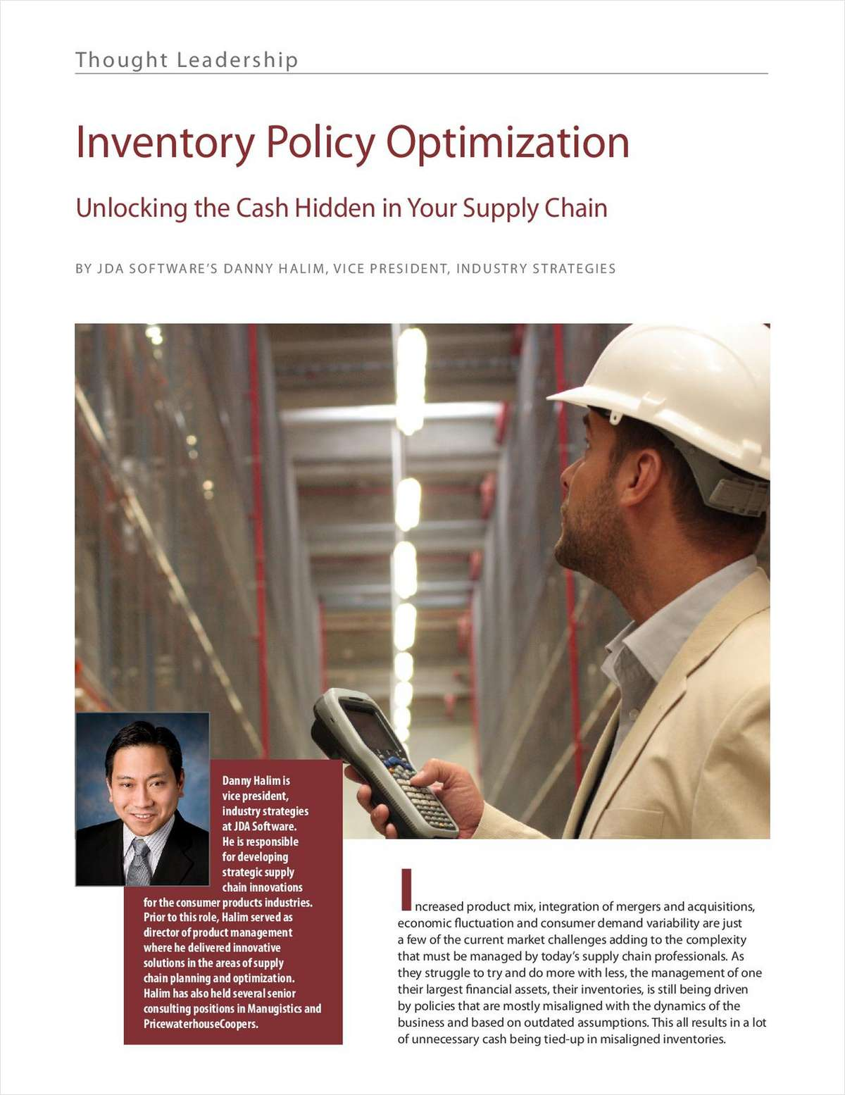 Unlock the Cash in Your Supply Chain with Inventory Optimization