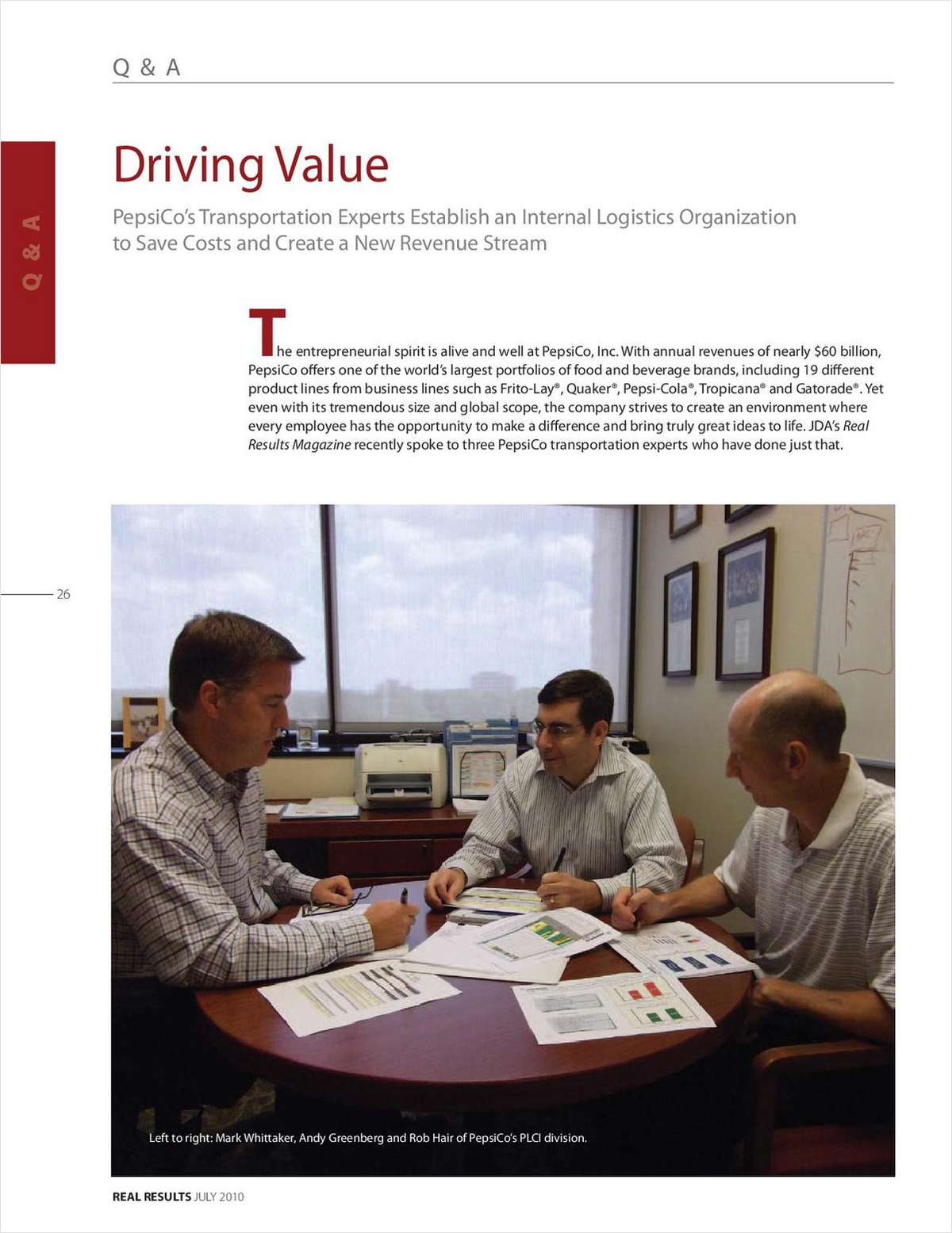 Driving Value, Free JDA Software Group Case Study