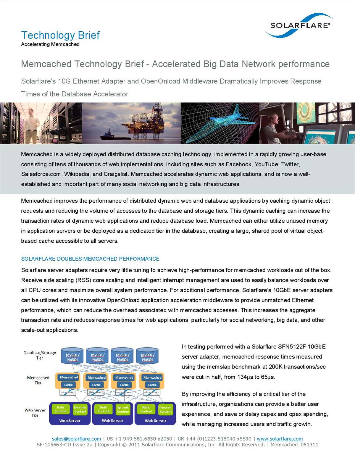 Memcached Technology Brief - Accelerating Web 2.0 Application Performance