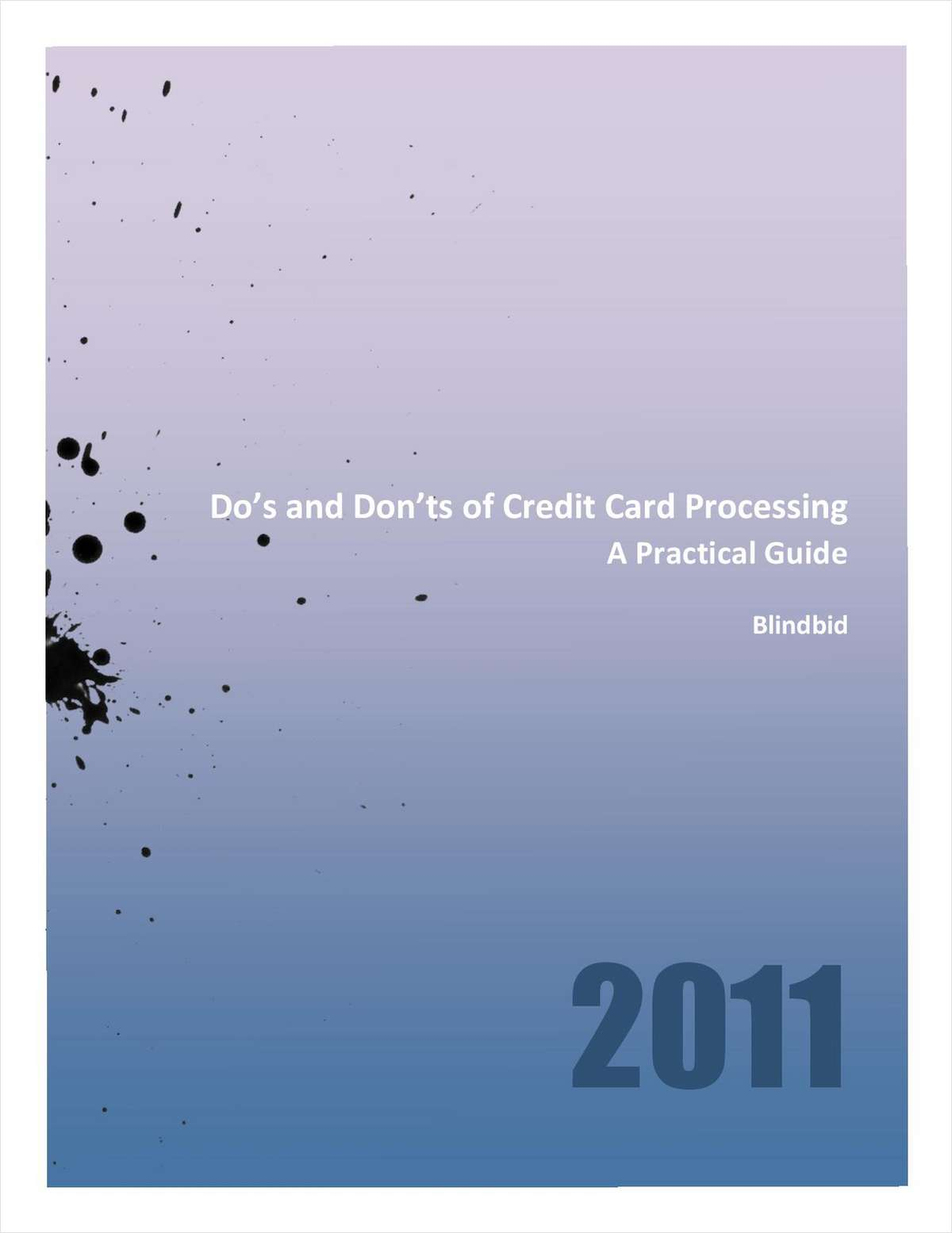 Do's and Don'ts of Credit Card Processing
