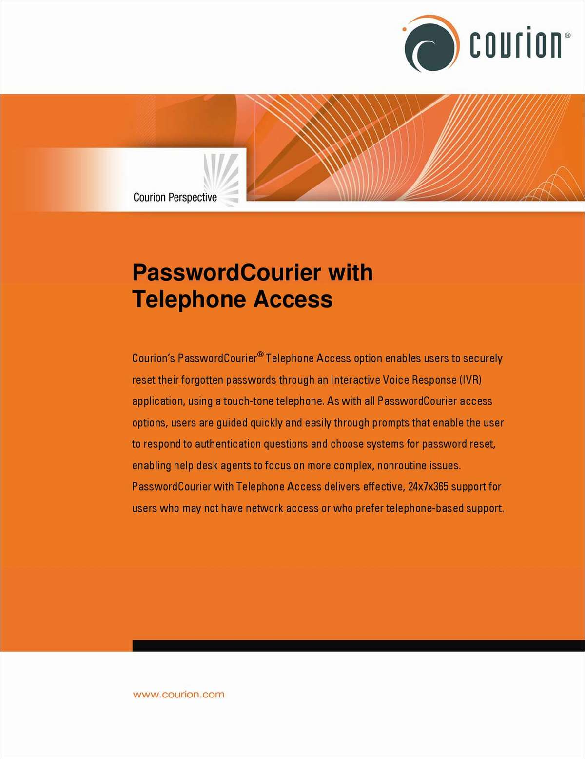 PasswordCourier with Telephone Access