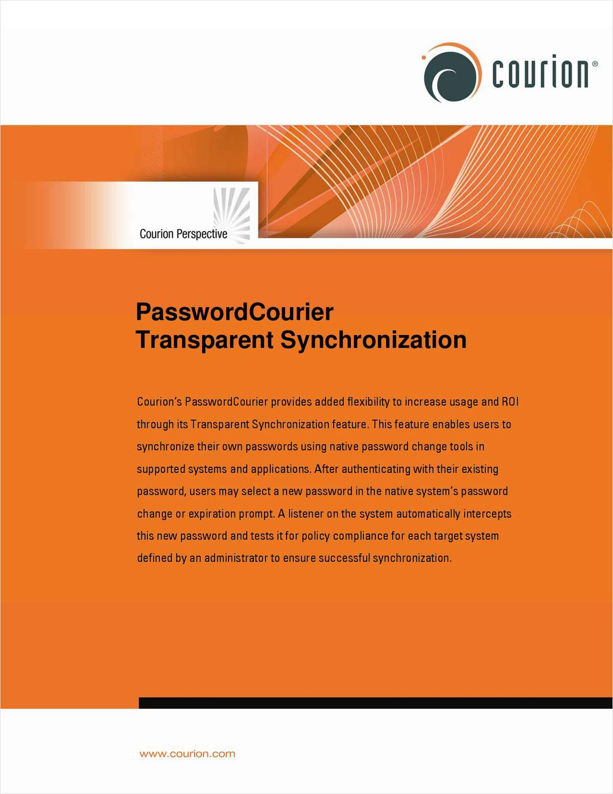 PasswordCourier Transparent Synchronization