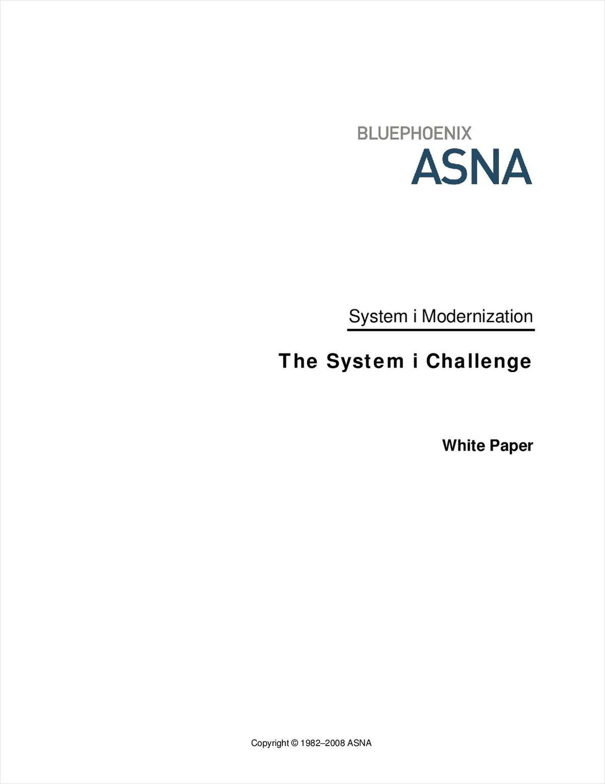 The System i Challenge