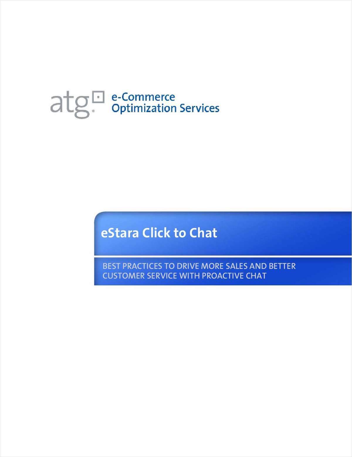 Click to Chat: Best Practices to Drive More Sales and Better Customer Service with Proactive Chat