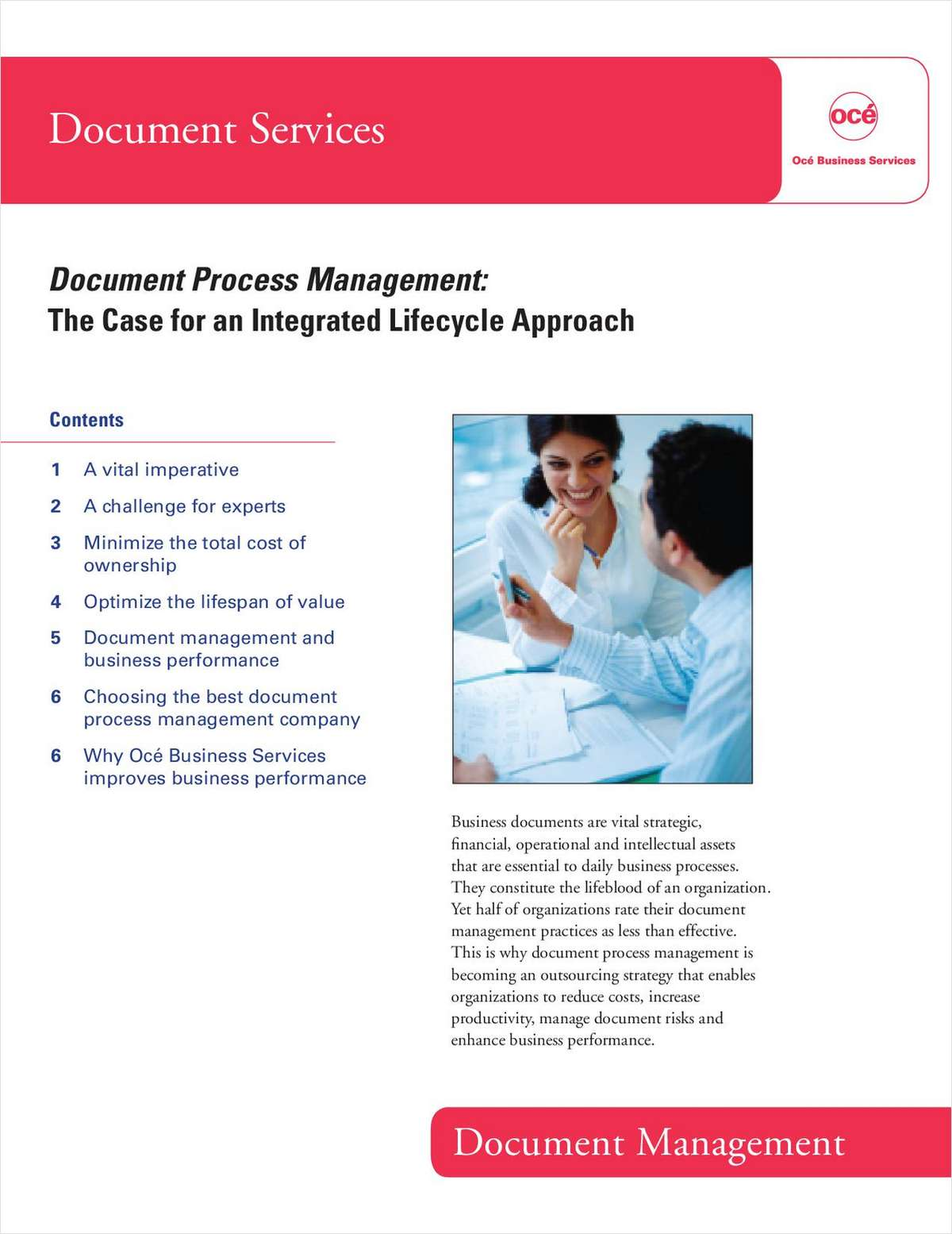 Document Process Management: The Case for an Integrated Lifecycle Approach