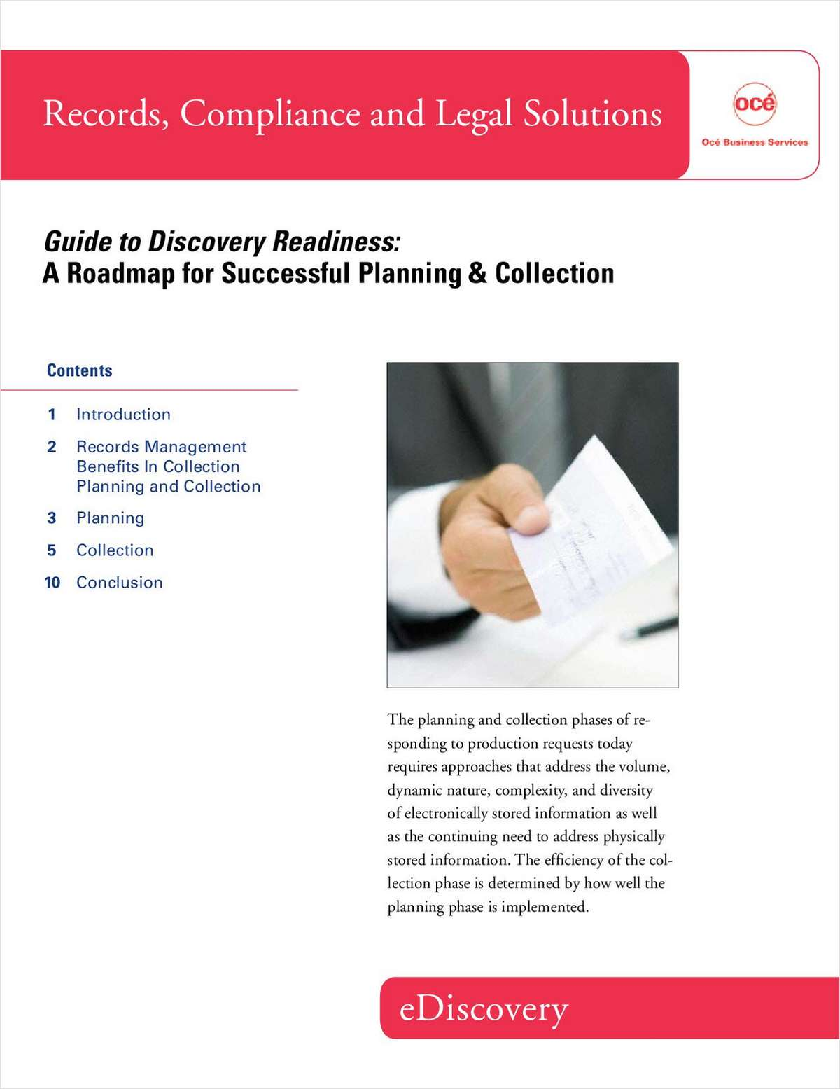Discovery Readiness: A Roadmap for Successful Planning and Collection