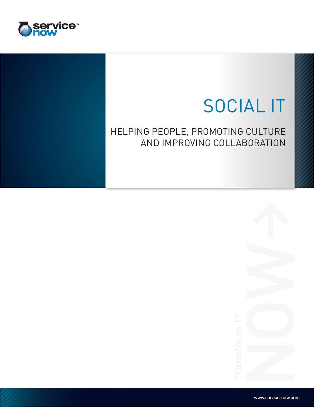 Social IT - Helping People, Promoting Culture and Improving Collaboration