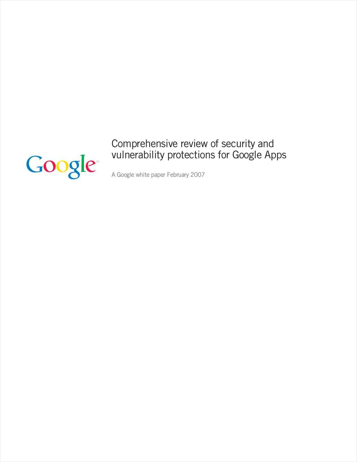 Comprehensive Review of Security and Vulnerability Protections for Google Apps