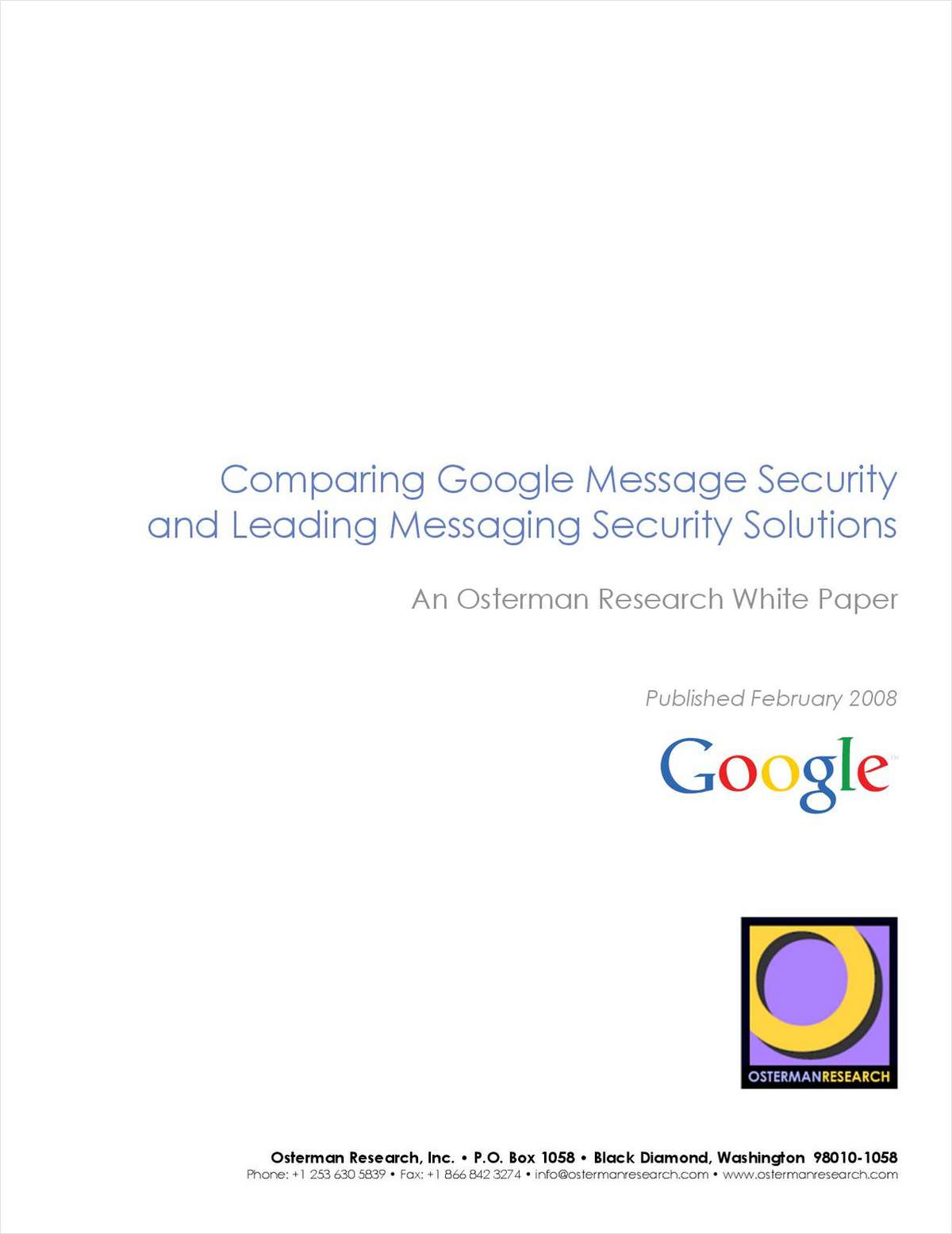 Google vs The World: The Battle of the Message Security Vendors