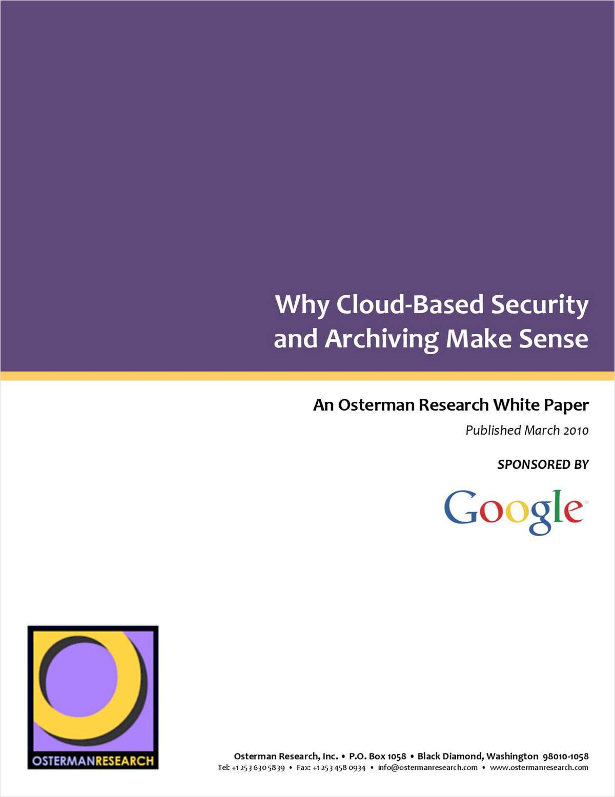 Why Cloud-Based Security and Archiving Make Sense