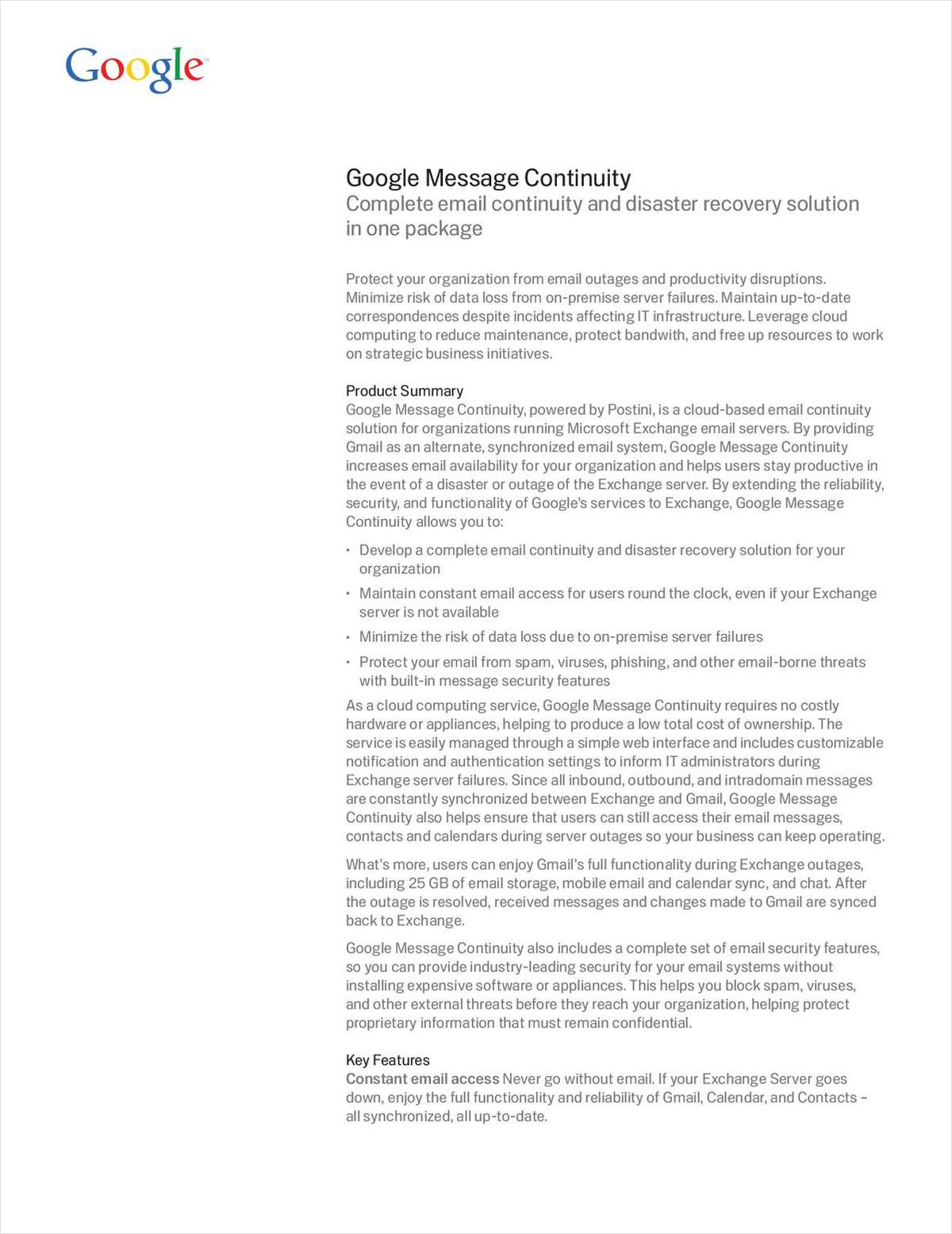 Google Message Continuity