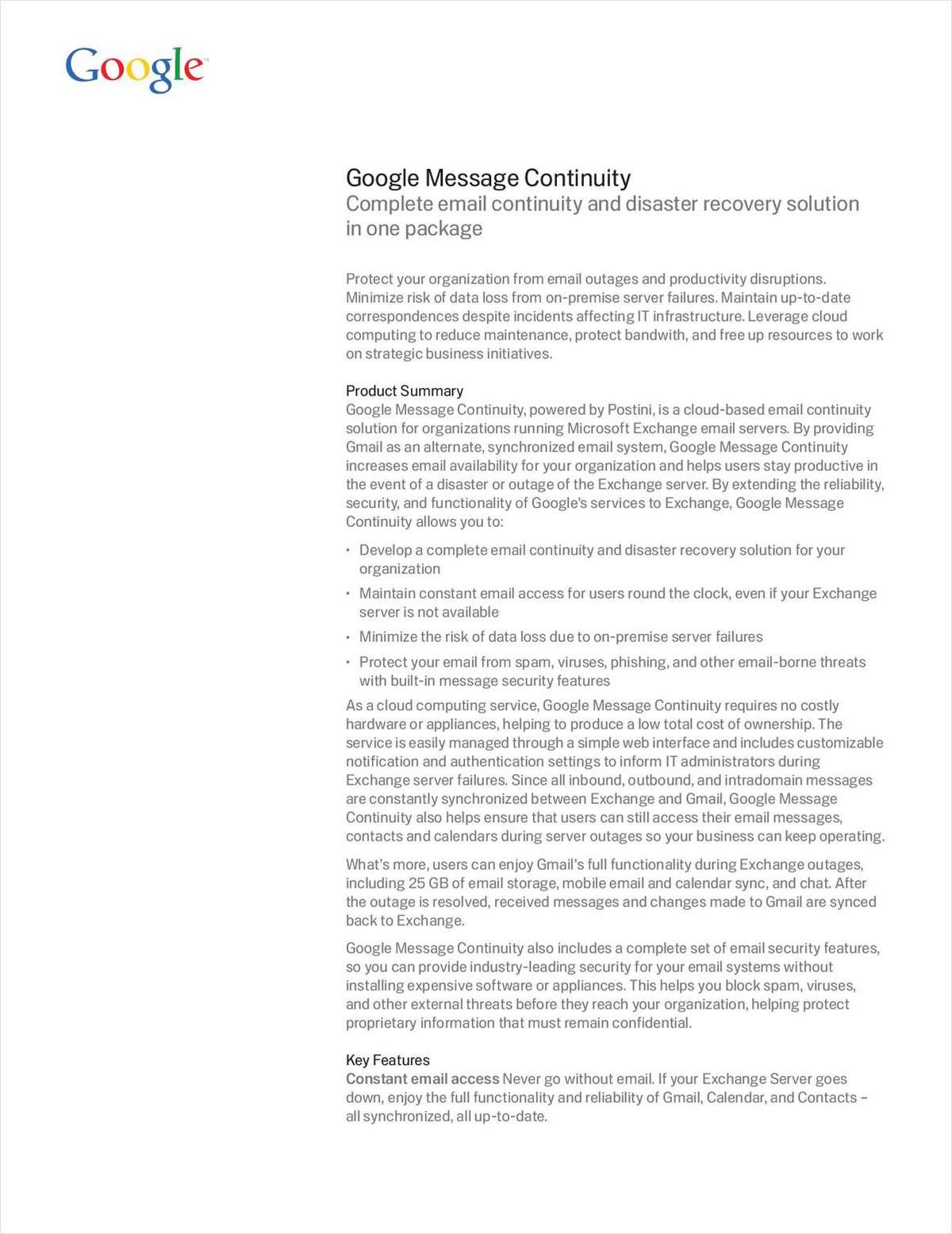 Google Message Continuity