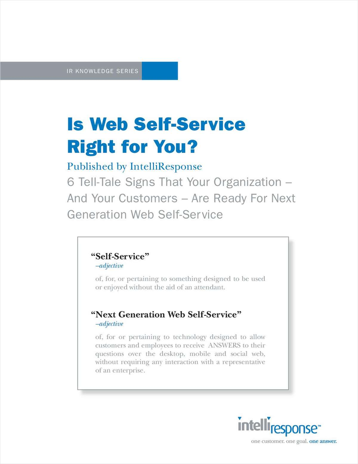 Is Web Self-Service Right for You?