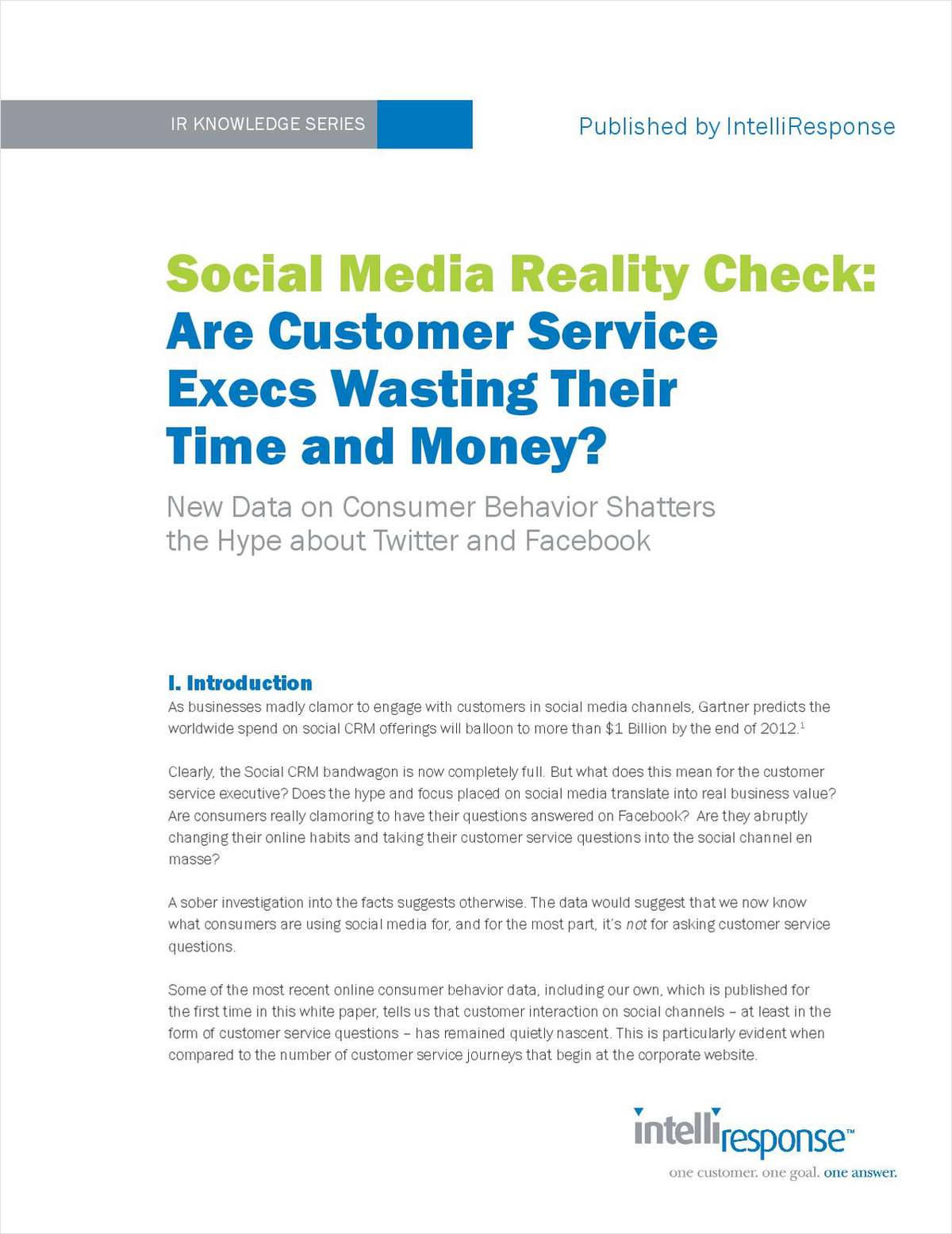 Social Media Reality Check: Are Customer Service Execs Wasting Their Time and Money?