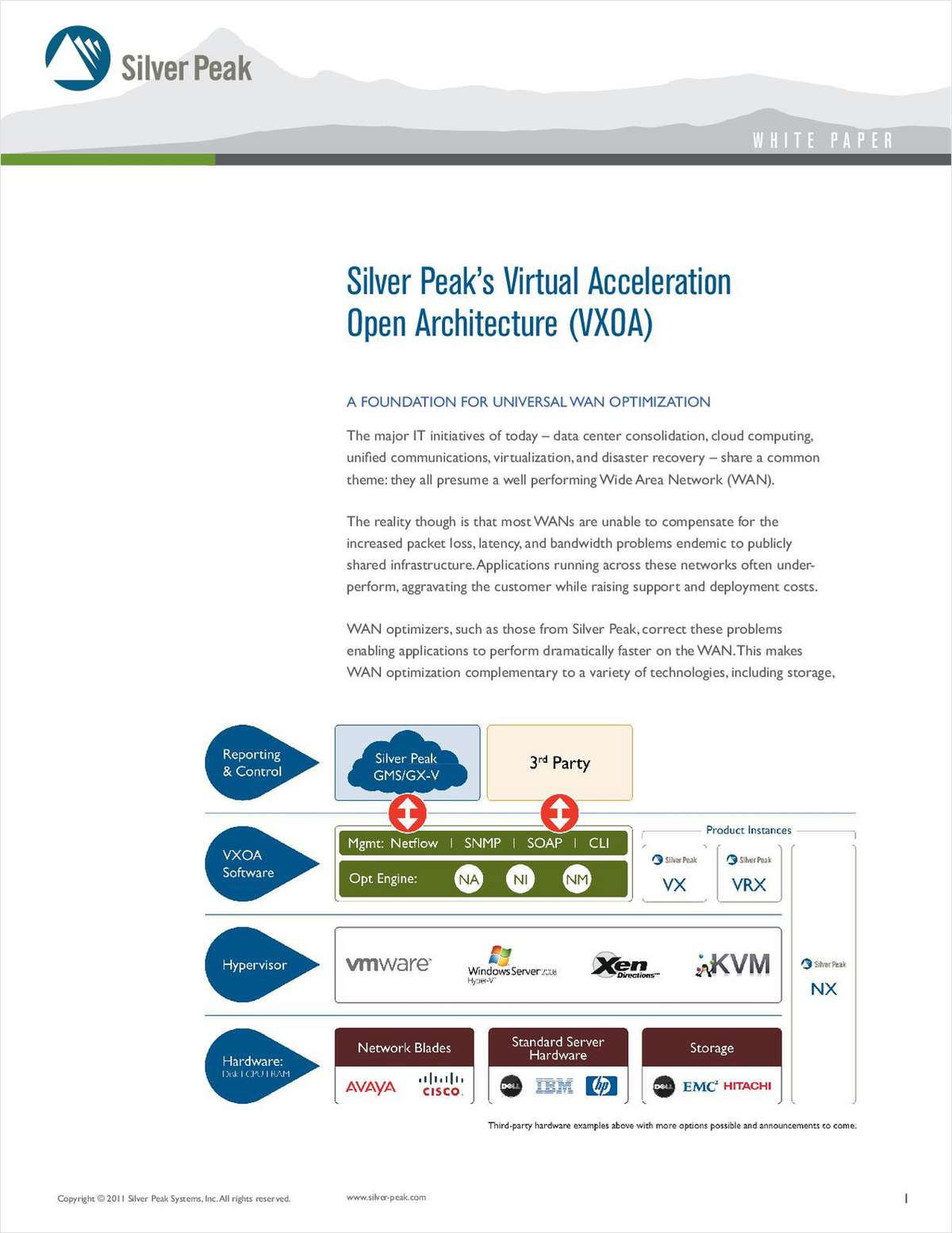Silver Peak's VXOA: A Foundation for Universal WAN Optimization