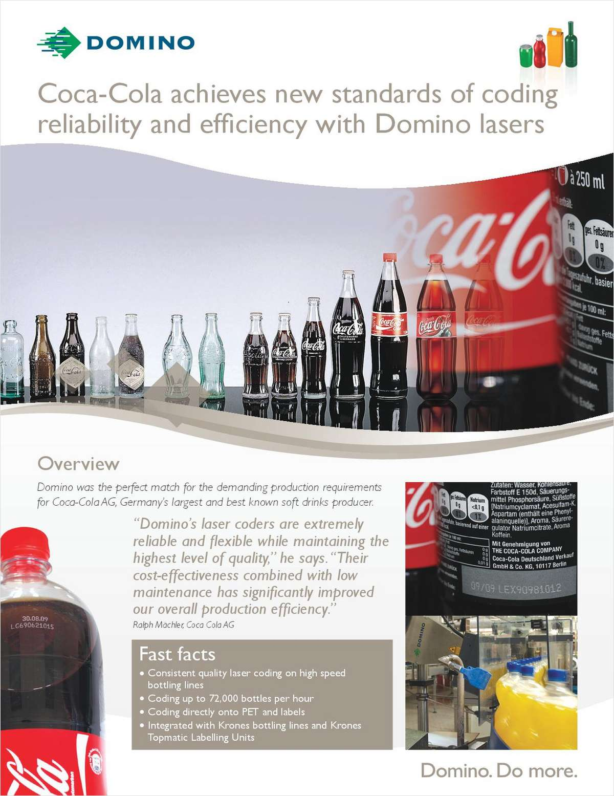 Coca-Cola Achieves New Standards of Coding Reliability and Efficiency With Domino Lasers