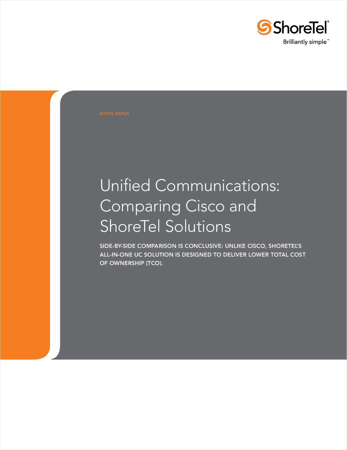 Comparison of Cisco and ShoreTel Unified Communication Solutions