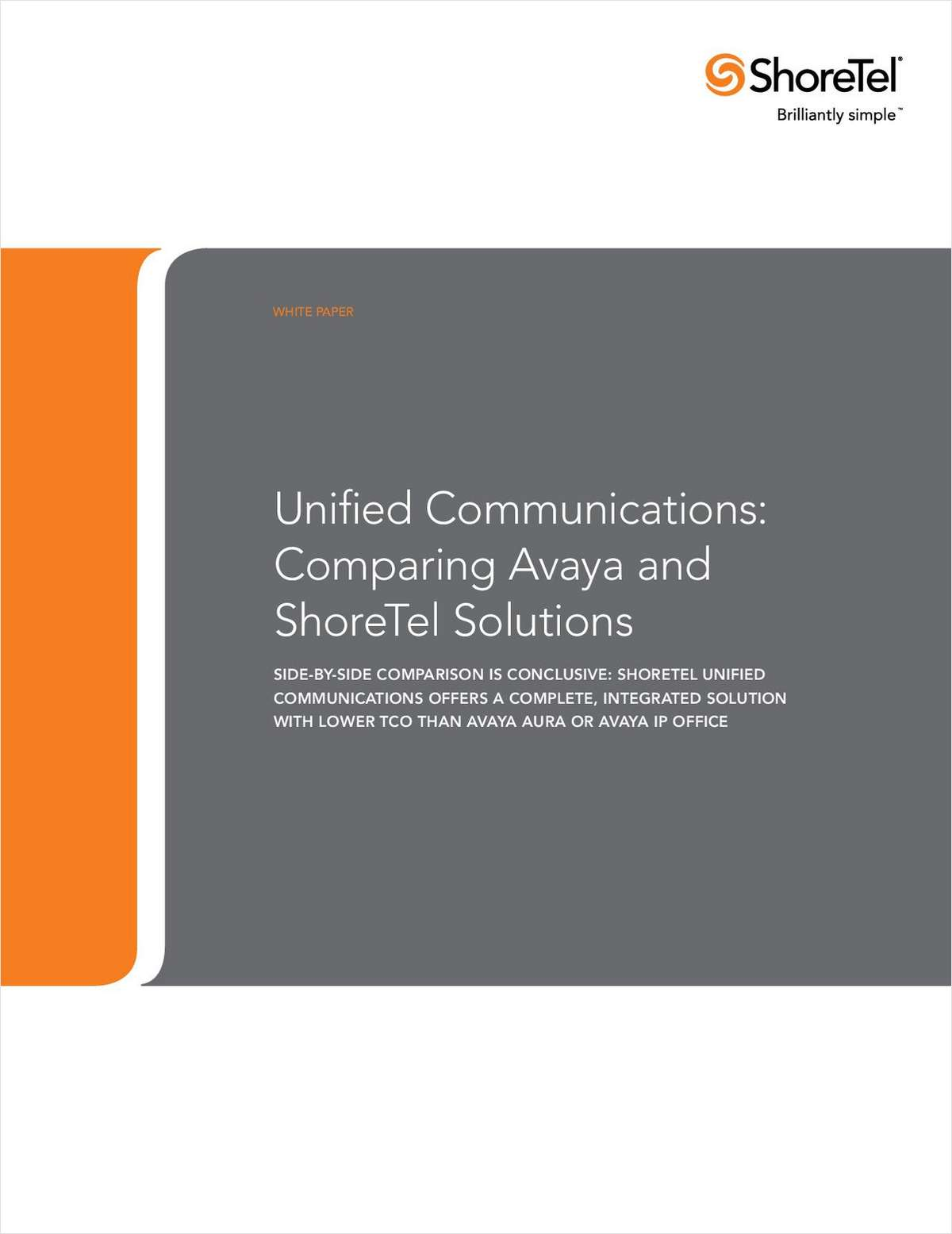 Comparison of Avaya and ShoreTel Unified Communication Solutions