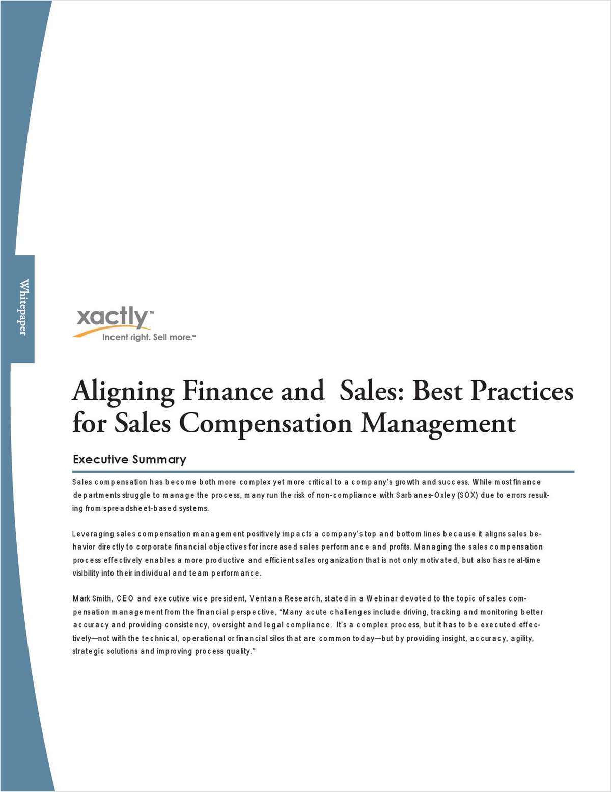 Aligning Finance and Sales: Best Practices for Sales Compensation Management