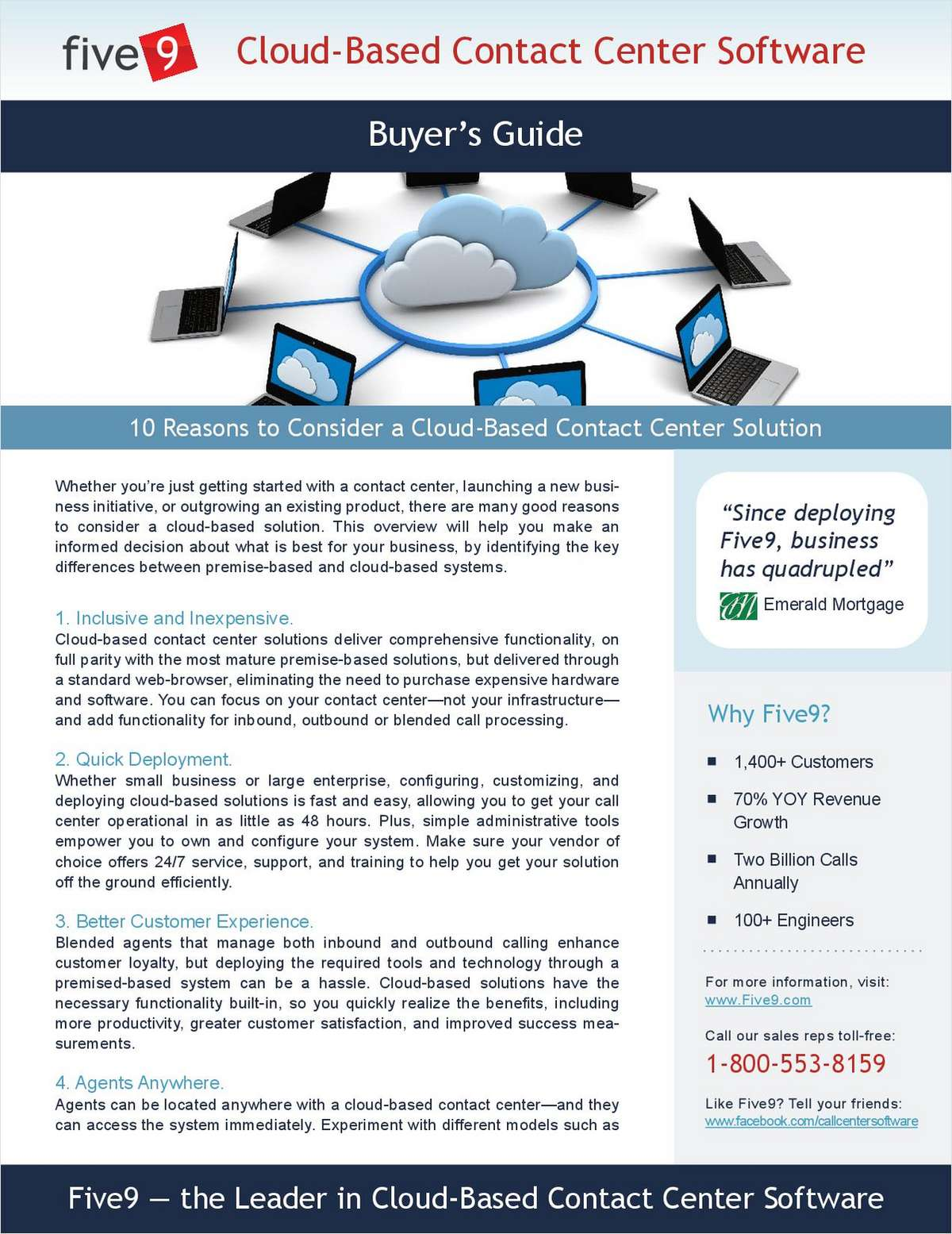 10 Reasons to Consider a Cloud-Based Contact Center Solution