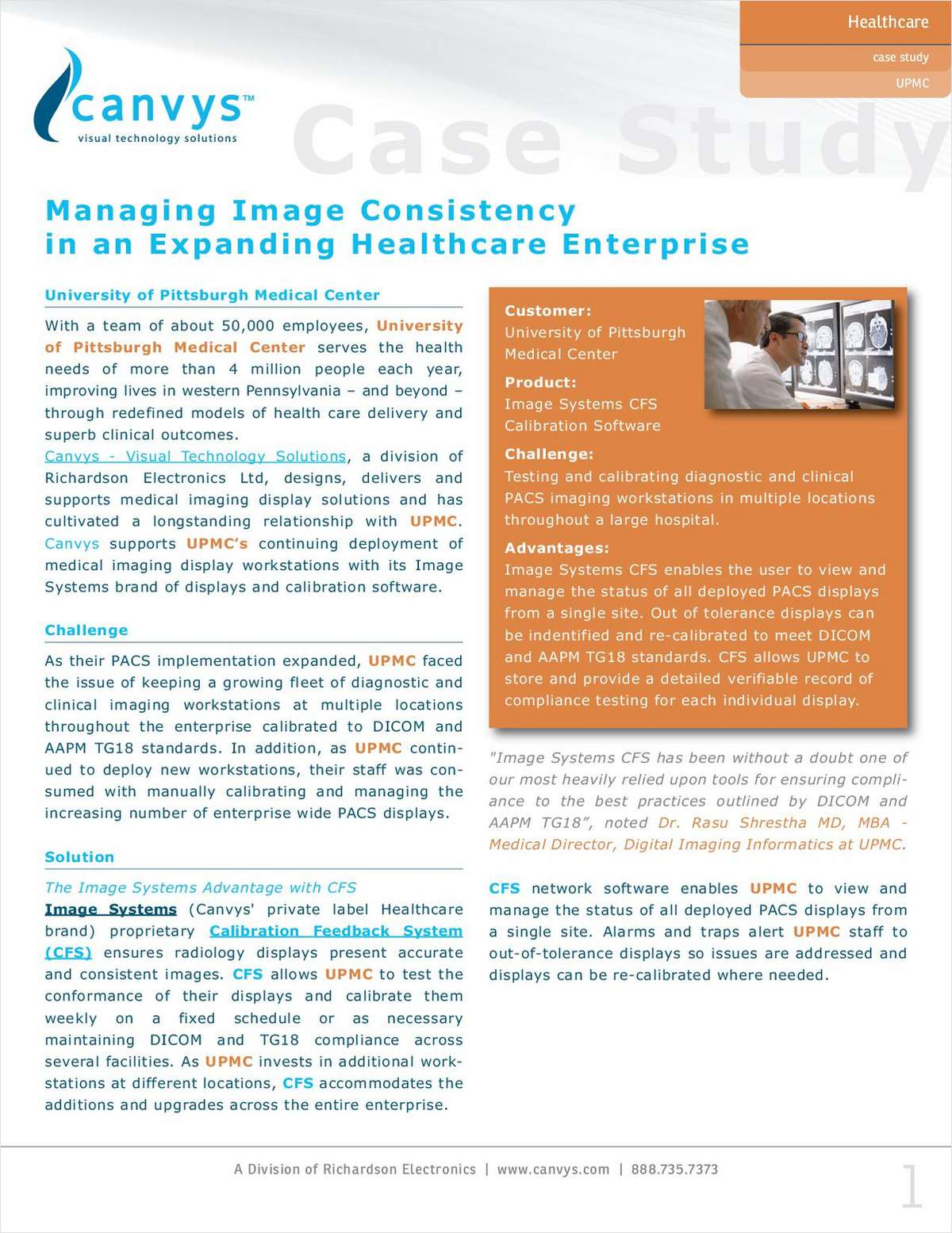 Case Study: Managing Image Consistency in an Expanding Healthcare Enterprise