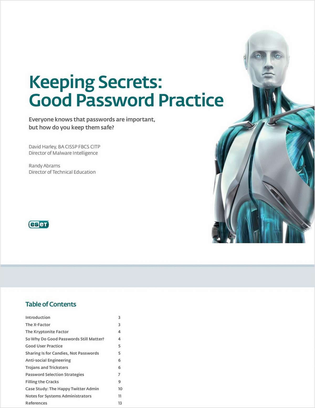 Keeping Secrets: Good Password Practice